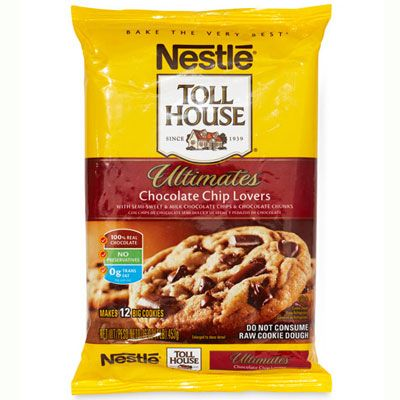 "Tasters' Pick: ""Chewy,"" ""buttery,"" and ""wonderfully chocolaty""; there's a reason <a href=""http://www.goodhousekeeping.com/product-reviews/food-products/best-cookie-dough/nestle-toll-house-ultimates-chocolate-chip-lovers-cookie-dough"" target=""_blank"">these break-and-bake cookies</a> ($3.29 for 16 oz.) are called ""Ultimates."""