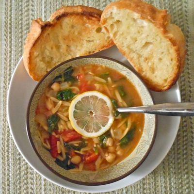 <p>Blogger Hally Thornton of the blog The Odd Couple Eats claims that this hot satisfying, and yet light and lemony soup is one of the easiest meals she has ever thrown together — and it's healthy, too!</p>