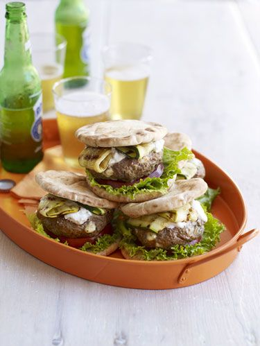 "<p> Infused with Mediterranean flavors and topped with mild, creamy tzatziki, these lamb burgers are an exotic twist on the traditional grilled favorite.</p><p><b>Recipe:</b> <a href=""/recipefinder/lamb-feta-burgers-tzatziki-recipe-rbk0811"" target=""_blank""><b>Lamb-Feta Burgers with Tzatziki</b></a></p>"