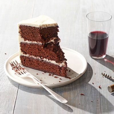 """<p>Red velvet cake may be a perennial at children's birthday parties, but there's nothing childish about this cake. Red wine adds a sophisticated flavor note to this already rich and colorful dessert.</p><p><strong>Recipe:</strong> <a href=""""http://www.delish.com/recipefinder/red-wine-velvet-cake-recipe-opr1012"""" target=""""_blank""""><strong>Red-Wine Velvet Cake</strong></a></p>"""