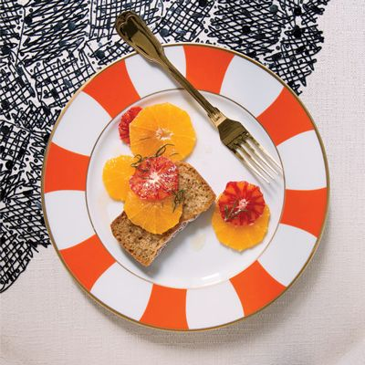 """<p>This refreshing dessert requires only three ingredients (other than water and salt) and is delicious served alongside simple cakes, like the Orange-Scented Buttermilk Cake Loaves.</p><p><b>Recipe: </b><a href=""""/recipefinder/oranges-rosemary-infused-honey-recipe-fw1212"""" target=""""_blank""""><b>Oranges with Rosemary-Infused Honey</b></a></p>"""
