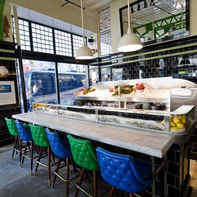 "Daily: 5-7 p.m. <br /><br /> April Bloomfield and Ken Friedman's Ace Hotel seafood bar pairs six clams (littlenecks from Long Island or Wellfleet from Massachusetts) or oysters (a choice of east coast Bluepoints or west coast Totten Inlets) with a glass of sparkling Cava or pint of Sixpoint Oyster Stout for $18. <br /><br /> <a href=""http://www.thejohndory.com/"" target=""_blank"">thejohndory.com</a>"
