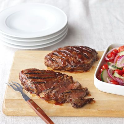 Sirloin Steak with Red Onion Relish