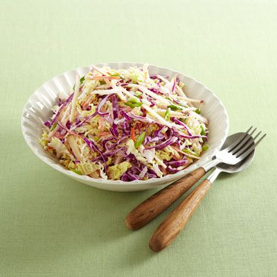 "<p>This healthier take on a traditional cabbage slaw is a delicious addition to any picnic. The crunchy, raw vegetables will only taste better the longer they marinate in the light, tangy, yogurt-based dressing. To best serve this scrumptious salad and sandwich-topper, bring a large serving fork or slotted spoon so that you can scoop out the coleslaw but drain away any excess dressing.</p><p><b>Recipe: <a href=""/recipefinder/healthy-makeover-coleslaw-recipe-ghk0612"" target=""_blank"">Healthy Makeover: Coleslaw</a></b></p>"
