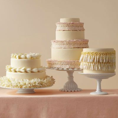 What could be better than a gorgeous cake on your dessert table? Three gorgeous cakes, of course! Instead of one larger confection, consider offering multiple cakes in smaller sizes. It'll give you the option to serve more than one flavor, and guests will marvel at your abundant dessert spread.