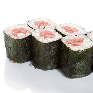 "To Order: $7 to $9 <br /><br /> To Make: $15 to $18 <br /><br /> That smooth, melt-in-your-mouth texture comes from chefs using only ""sushi-grade"" fish with a special fat content, explains food expert Alan Watts of <a href=""http://www.menwhodine.com/"" target=""_blank"">MenWhoDine.com</a>. ""There are rules about how to catch and prepare it to ensure its quality."" While sushi-grade tuna costs about $28 per pound at a retail fish market, Japanese restaurants purchase an entire tuna directly from Japan for much less per pound, Watts says."