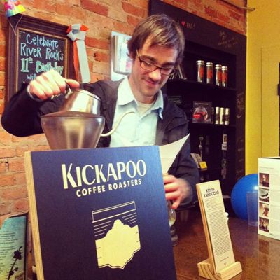 """Artisinal roasting meets fair trade"" is how you might best describe <a href=""http://www.kickapoocoffee.com/"" target=""_blank"">Kickapoo Coffee</a> (not to mention playful, innovative, and highly conscious). Located in Viroqua, Wisconsin, Kickapoo is a ""family-scale enterprise situated near the scenic Kickapoo River in the Driftless region of southwest Wisconsin"" whose foundation is built on the same values as their business: ""connection to the land, consideration for our local and global community, and commitment to our families and those of our trading partners."" Visit them now for any number of amazing single origin varietals, blends, espresso beans, and even their ""rich and tasty"" decaf!"