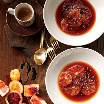 "<p>Blood oranges pair well with a simple caramel sauce and a sprinkling of earthy, nutty cocoa nibs.</p><p><b>Recipe: <a href=""http://www.delish.com/recipefinder/blood-oranges-caramel-sauce-cocoa-nibs-recipe-mslo1012"" target=""_blank"">Blood Oranges with Caramel Sauce and Cocoa Nibs</a></b></p>"
