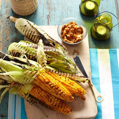 "<p>A spicy barbecue twist on classic grilled corn!</p> <p><strong>Recipe:</strong> <a href=""../../../recipefinder/grilled-corn-barbecue-butter-recipe-ghk0712"" target=""_blank""><strong>Grilled Corn with Barbecue Butter</strong></a></p>"