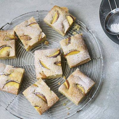 """<p>On Top Chef, Kristen Kish's winning menu included fennel pollen olive oil cake. She makes the simplified version here with peach slices.</p><p><b>Recipe: </b><a href=""""http://www.delish.com/sweet-peach-olive-oil-cake-recipe-fw0613"""" target=""""_blank""""><b>Sweet Peach Olive Oil Cake</b></a></p>"""