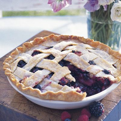 """<p>You've worked hard to plan this shower. It's time for a reward. How about a slice of fruity, delectable pie? Fill it with plenty of blueberries and blackberries to fit the baby boy-themed celebration. </p><br /><p><b>Recipe: </b><a href=""""/recipefinder/deep-dish-bumbleberry-pie-999"""" target=""""_blank""""><b>Deep-Dish Bumbleberry Pie</b></a></p>"""