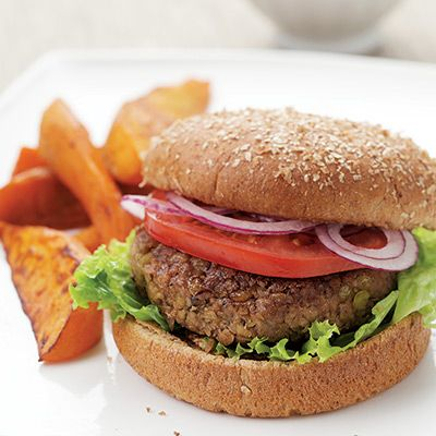 "<p>Walnuts and fresh marjoram accent these vegan lentil burgers. Substitute oregano for marjoram if you like. Serve with a smear of whole-grain mustard and roasted sweet potato wedges.</p><br />  <p><b>Recipe: <a href=""/recipefinder/lentil-burgers-recipe-ew1111"">Lentil Burgers</a></b></p>"