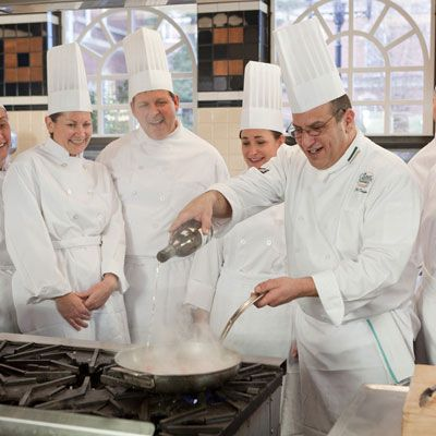 """<p><b>When:</b> Ongoing</p> <p><b>What:</b> For the serious chef, immerse yourself in a professional kitchen at your choice of the Culinary Institute of America's three campuses — New York's bountiful Hudson Valley, California's stunning Napa Valley, or the Texan town of San Antonio. Students will be treated to an authentic culinary school experience and don a chef uniform complete with chef coat and pants, neckerchief and paper hats. Experienced chef-instructors lead these short and intensive """"boot camps"""" which run from 2 to 5 days. Campers can select from a range of sessions including the Baking Bootcamp in St. Helena, CA or the Flavors of the Hudson Valley which focuses on the cornucopia of local foods that thrive in the region.</p> <p><i><a href=""""http://enthusiasts.ciachef.edu/boot-camps/"""" target=""""_blank"""">CIA Boot Camps</a>; Culinary Institute of America, 1946 Campus Drive (Route 9), Hyde Park, NY; Cost range from class to class.</i></p>"""