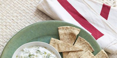 """<p>Served chilled with pita chips or cut up veggies, this recipe is perfect for summer weather.</p><p><b>Recipe: <a href=""""http://www.countryliving.com/recipefinder/cucumber-yogurt-dip-recipe-clv0610""""target=""""_blank"""">Cucumber Yogurt Dip</a></b></p>"""
