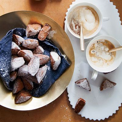 "<p>David Kinch playfully combines two New Orleans classics: chicory coffee and beignets.</p><p><b>Recipe: </b><a href=""/recipefinder/new-orleans-style-chicory-beignets-recipe-fw0413"" target=""_blank""><b>Chicory Beignet</b></a></p>"