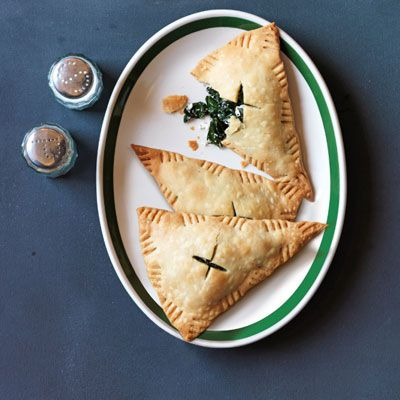 "<p>Creamy, tangy goat cheese and robust kale are a winning combination to fill rich, flaky empanadas.</p> <p><strong>Recipe:</strong> <a href=""http://www.delish.com/recipefinder/kale-goat-cheese-empanadas-recipe-opr0313"" target=""_blank""><strong>Kale and Goat Cheese Empanadas</strong></a></p>"