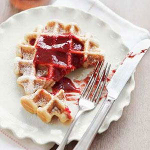 """<p>These fluffy waffles are the perfect breakfast treat on a cold winter day.</p> <p><b>Recipe: <a href=""""/recipefinder/maple-belgian-waffles-recipe"""">Maple Belgian Waffles</a></b></p>"""