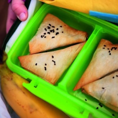 <p>Easy for tiny hands to grasp and bursting with good stuff, our veggie samosas are a perfect snack served at home, on the go, or in a lunch box. Use our handy folding guide to make  beautiful little packages.</p>