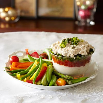 "<p>Everything about the dips on the holiday appetizer table is deceptive, which is why you have to be careful. Dips may sound healthy when they're packed with cheese, like spinach dips. You also tend to keep going back for more rather than serving up a small pile on a plate, meaning you lose track of how much you're munching. Take advantage of other appetizers, or go for <a href=""http://www.delish.com/search/fast_search_recipes/?search_term=hummus"" target=""_blank"">hummus</a> and <a href=""http://www.delish.com/search/fast_search_recipes/?q=&search_term=salsa"" target=""_blank"">salsa</a> — they both pack in veggies and nutrients without sacrificing flavor. If you can't resist the calorie-laden apps, try dipping with fresh veggies to cut calories on chips. This <a href=""http://www.delish.com/recipefinder/layered-white-bean-tomato-dip-recipe-ghk1211"" target=""_blank"">Layered White Bean and Tomato Dip</a> is deceptive in a great way&#x3B; it looks and tastes indulgent, but it won't break the bank on calories.</p>"