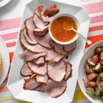 <p>Jazzing up store-bought apricot jam is easy to do, but the sweet and spicy ingredients you add will give this succulent ham a real kick of flavor.</p>