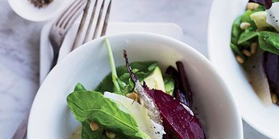 """<p>This salad from Nancy Oakes is both hearty and light, combining big flavors (beets, arugula, goat cheese) in a bracing lemon dressing.</p><p><b>Recipe: </b><a href=""""http://www.delish.com/recipefinder/beet-avocado-arugula-salad-recipe-fw0713"""" target=""""_blank""""><b>Beet, Avocado, and Arugula Salad</b></a></p>"""