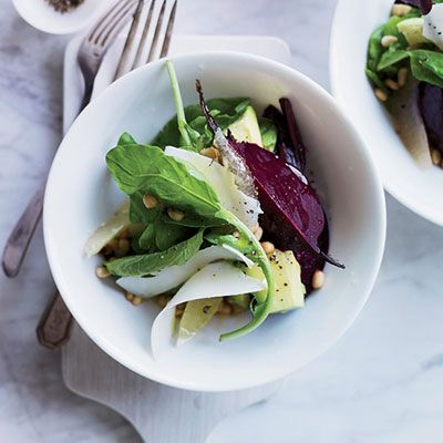 "<p>This salad from Nancy Oakes is both hearty and light, combining big flavors (beets, arugula, goat cheese) in a bracing lemon dressing.</p><p><b>Recipe: </b><a href=""http://www.delish.com/recipefinder/beet-avocado-arugula-salad-recipe-fw0713"" target=""_blank""><b>Beet, Avocado, and Arugula Salad</b></a></p>"