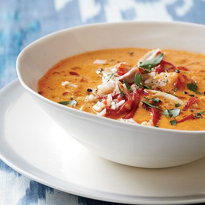 <p>The secret to this speedy soup is buying ingredients with lots of built-in flavor, like hummus and jarred piquillo peppers.</p>