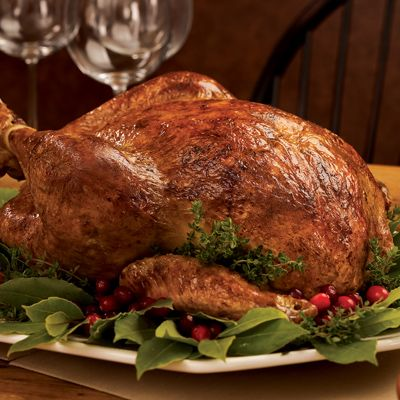 """<p>A big turkey is so spectacular you hardly need to do anything to embellish it. But brining can be that extra touch that makes it so juicy and flavorful that you'll remember it for years to come. Brining the turkey takes 3 days so you'll need to plan ahead, but the lengthy brining time really pays off with fabulous flavor. Make sure you start with an all-natural bird without any added water and sodium solution. (Recipe adapted from Alice Waters.)</p> <p><b>Recipe: <a href=""""http://www.delish.com/recipefinder/brine-cured-roast-turkey-recipe?click=recipe_sr"""" target=""""_blank"""">Brine-Cured Roast Turkey</a></b></p>"""