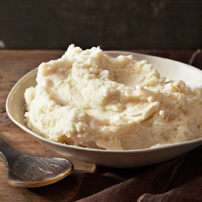 """<p>The key to these perfectly creamy mashed potatoes is not overstirring them once the half-and-half has been added.</p> <p><b>Recipe: <a href=""""http://www.delish.com/recipefinder/the-ultimate-mashed-potatoes-recipe-clv0211"""" target=""""_blank"""">The Ultimate Mashed Potatoes</a></b></p>"""