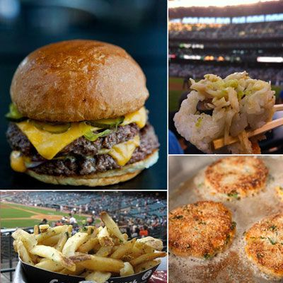 There'll be plenty of hot dogs and pretzels served during the MLB playoffs, but this year, the stadium pickings won't be quite so slim. In fact, baseball fans can find a growing assortment of gourmet eats at stadiums across the country. Forget peanuts and cracker jacks&#x3B; these are foods you'll want to munch on even after you're done rooting for the home team. Without further ado, here are 10 baseball foods — some local favorites, others designed by iconic chefs — that we crave around the country.