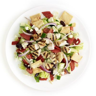 "<p>A substantial Greek salad is an ideal quick summertime supper. Crushed pita chips are a clever way to add crunch.</p><p><b>Recipe: <a href=""http://www.delish.com/recipefinder/greek-salad-recipe-ghk0610"" target=""_blank"">Greek Salad</a></b></p>"