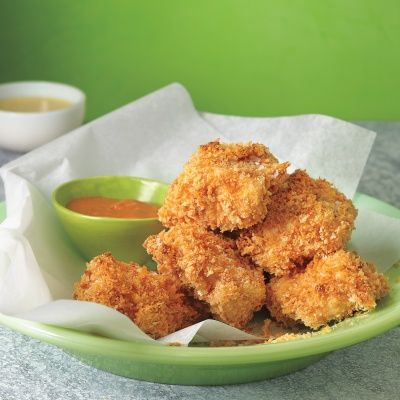 """<p>Try baking this classic kid favorite instead of frying for a healthier alternative that you'll love just as much as your little ones. Go ahead, make yourself a couple.</p> <p><b>Recipe: <a href=""""/recipefinder/baked-chicken-nuggets-recipe-mslo0912"""">Baked Chicken Nuggets</a></b></p>"""