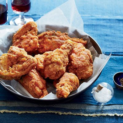 "<p>This fried chicken  is a no-fail, no-fuss version of classic fried chicken with a perfectly crunchy seasoned crust (the trick is the cornstarch) and juicy meat.</p><p><strong>Recipe:</strong> <a href=""http://www.delish.com/recipefinder/ultimate-southern-fried-chicken-recipe-fw1013""><strong>The Ultimate Southern Fried Chicken</strong></a></p>"