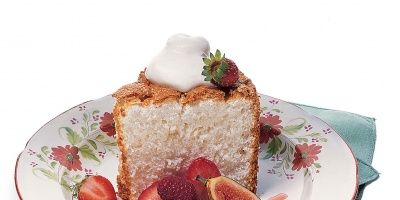 """<p>One slice of this light angel food cake is nothing short of """"heavenly.""""</p>"""