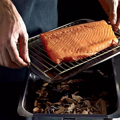 """<p>Cold-smoking salmon usually requires an elaborate setup. Use the brilliant trick of quickly smoking the fish, then curing it like gravlax, as a great option for the home cook.</p><p><b>Recipe: </b><a href=""""http://www.delish.com/recipefinder/smoked-cured-salmon-orange-zest-recipe-fw0211 """" target=""""_blank""""><b>Smoked and Cured Salmon with Orange Zest</b></a></p>"""