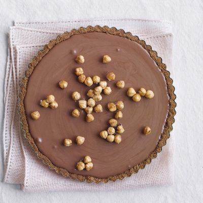 "<p>A crispy crust made from ice-cream cones is the perfect complement to velvety chocolate mousse.</p><p><b>Recipe:</b> <a href=""http://www.delish.com/recipefinder/chocolate-mousse-tart-hazelnuts-recipe-mslo1213"" target=""_blank""><b>Chocolate Mousse Tart with Hazelnuts</b></a></p>"