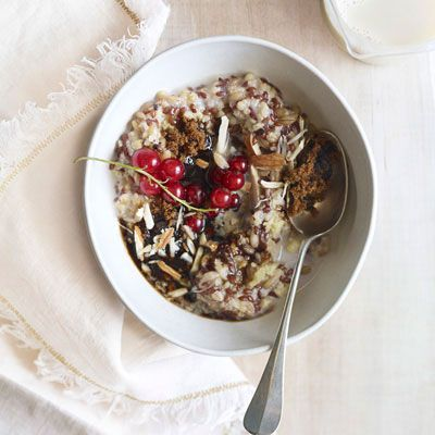"""<p>Cardamom, cinnamon, ginger, and black pepper play a dual role in this multigrain porridge, made here with oats, millet, spelt, and flaxseed.</p><p><b>Recipe:</b> <a href=""""http://www.delish.com/recipefinder/mixed-grain-cereal-chai-spice-recipe-opr0111"""" target=""""_blank""""><b>Mixed-Grain Cereal with Chai Spice</b></a></p>"""