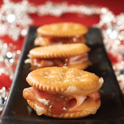 "<p>Meet the season's tastiest, tangiest, sweet-and-spicy appetizers. And all of this goodness fits on a cracker.</p> <p><b>Recipe: <a href=""http://www.delish.com/recipefinder/monte-cristo-bites-recipe-ritz1213"">RITZ Monte Cristo Bites</a></b></p>"