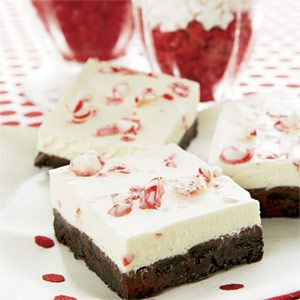 "<p>Rich chocolate and zingy peppermint -- is there a better holiday combo than that?</p><p><strong>Recipe:</strong> <a href=""Candy Cane Dessert Squares""><strong>Candy Cane Dessert Squares</strong></a></p>"