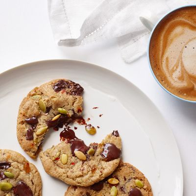 """<p>Chocolate chip cookies get a grown-up upgrade when you add salty, crunchy pumpkin seeds and a dash of spicy chili flake.</p><p><b>Recipe:</b> <a href=""""http://www.delish.com/recipefinder/ultimate-gluten-free-chocolate-chip-cookies-recipe-fw1113""""><b>Sweet and Salty Cookies</b></a></p>"""