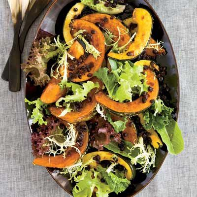 """<p>For winter squash that is crispy on the outside and moist within, halve each one, roast it until soft, then cut it into wedges and roast it some more.</p><p><strong>Recipe:</strong> <a href=""""http://www.delish.com/recipefinder/ginger-roasted-winter-squash-recipe-fw1210""""><strong>Ginger-Roasted Winter Squash</strong></a></p>"""