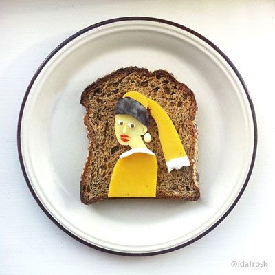 "<p>As part of her Art Toast Project, food artist Ida Skivenes reinvents classic artworks using food on a piece of toast (such as this one modeled after ""The Girl With the Pearl Earring""). Check out her Instagram account for more and get lost in her amazing work.</p>"