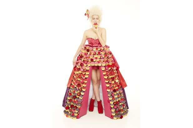 "<p><a href=""http://www.digitalspy.com/british-tv/news/a516141/dress-made-of-300-cupcakes-created-for-food-network-picture.html"" target=""_blank"">Cupcakes</a> can also, apparently, be couture. Food Network UK is at it again with their cupcake dress, made from 300 of the tiny treats. The price tag? $1,257.00 </p>"