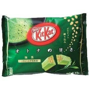 """Japan has a whole slew of interesting Kit Kat flavors (they even have a whole <a href=""""http://www.delish.com/food/recalls-reviews/japan-luxury-kit-kat-store"""">shop dedicated solely to gourmet Kit Kat bars</a>) that aren't available in the US including pear, cinnamon cookie, brown sugar syrup and even edamame soybean. But the ones we covet most are feature those classic crunch wafers covered with the creamy, nutty, and rich flavor of Matcha Green Tea. Luckily for those of us stuck stateside with only the chocolate variety, Match Kit Kat bars can be found for sale on <a href=""""http://www.amazon.com/Japanese-Kit-Kat-Maccha-Green/dp/B007OVX77G"""" target=""""_blank"""">Amazon</a>."""