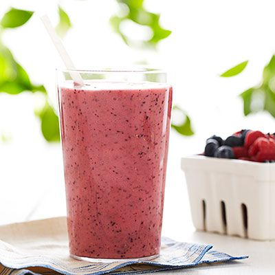 "<p>A little ginger and tart pineapple juice add a kick to this sweet but healthy blend of banana and berries.</p><p><strong>Recipe:</strong> <a href=""http://www.delish.com/recipefinder/banana-berry-smoothie-recipe-ghk0713"" target=""_blank""><strong>Banana-Berry Smoothie</strong></a></p>"