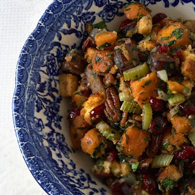 Brandied Cranberry and Sweet Potato Stuffing