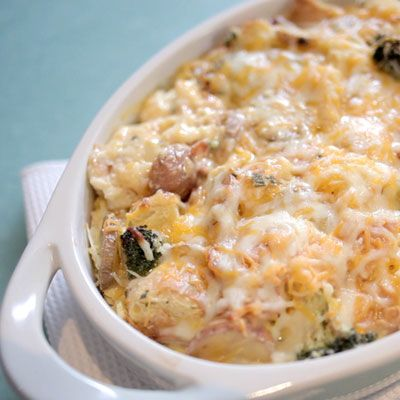 "<p>This is one breakfast delicious enough to make it easy to get out of bed in the morning.</p> <p><b>Recipe: <a href=""http://www.delish.com/recipefinder/bacon-potato-breakfast-strata-recipe-kft0313"">Bacon and Potato Breakfast Strata</a></b></p>"