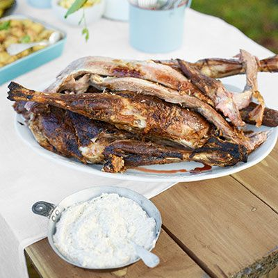 "<p>The tang of buttermilk adds extra zest to fresh tzatziki and succulent grilled lamb.</p> <p><strong>Recipe: <a href=""http://www.delish.com/recipefinder/roasted-lamb-buttermilk-tzatziki-recipe-clv0813"" target=""_blank"">Roasted Lamb with Buttermilk Tzatziki</a></strong></p>"