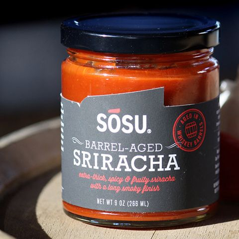 "<p>After the long srirachapocalypse scare, we're still as in love with it as before. We know you douse every savory meal with it, and that's ok, as long as you're ready to accept that the ultra-popular sauce can and has been improved. <a href=""http://www.sosusauces.com/"" target=""_blank"">Sosu Sauces</a> is taking sriracha to a new level by aging it in oak whiskey barrels for 3 months, imparting the simple four-ingredient sauce with a smokey depth that will mercilessly hook you. Act fast, though, the 3-month-aged version is limited edition.</p> <p><em>SOSU Barrel-Aged Sriracha; $25 for an 8 oz jar; <a href=""https://www.kickstarter.com/projects/657999288/sosu-barrel-aged-sriracha"" target=""_blank"">buy here</a></em></p>"