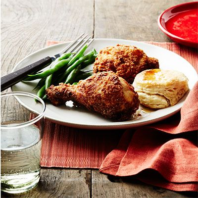 "<p>The Southern States lay claim to this dish. The chicken can be soaked in buttermilk (such as in this recipe), milk, or brine, dusted with spices or kept plain, and fried in oil or even lard. But one thing stays the same: It has to be crispy. </p><p><strong>Recipe:</strong> <a href=""http://www.delish.com/recipefinder/southern-buttermilk-fried-chicken-recipe-wdy0314"" target=""_blank""><strong>Southern Buttermilk Fried Chicken</strong></a></p>"